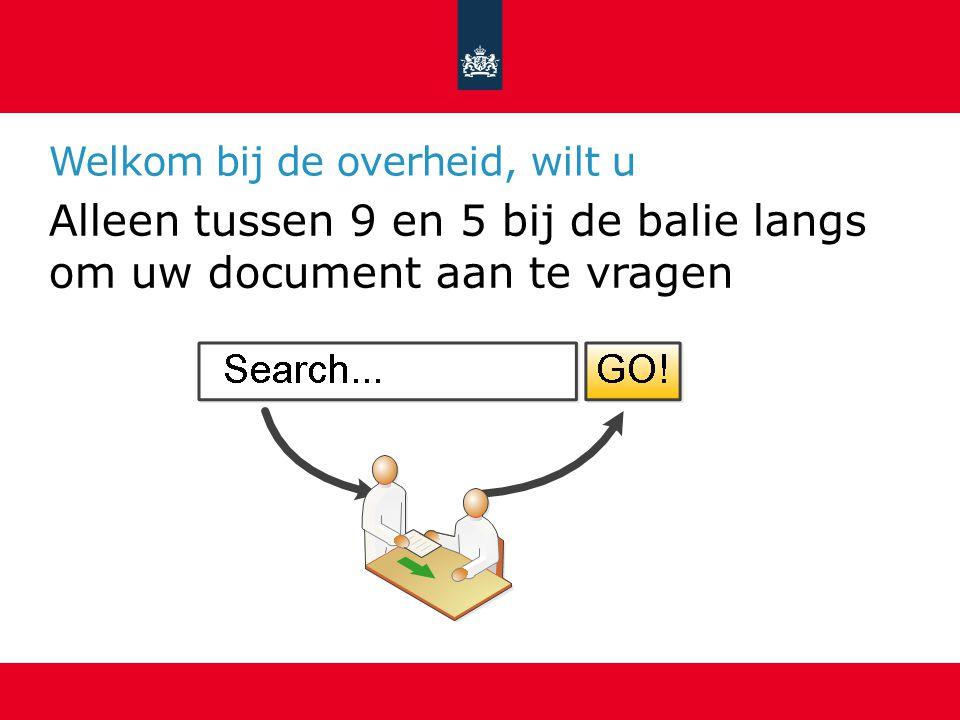 Welkom bij de overheid, wilt u Alleen in tekstdocumenten zoeken?