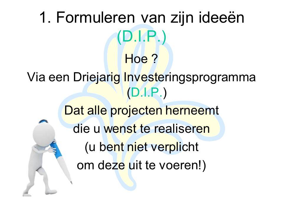 1. Formuleren van zijn ideeën (D.I.P.) Hoe .