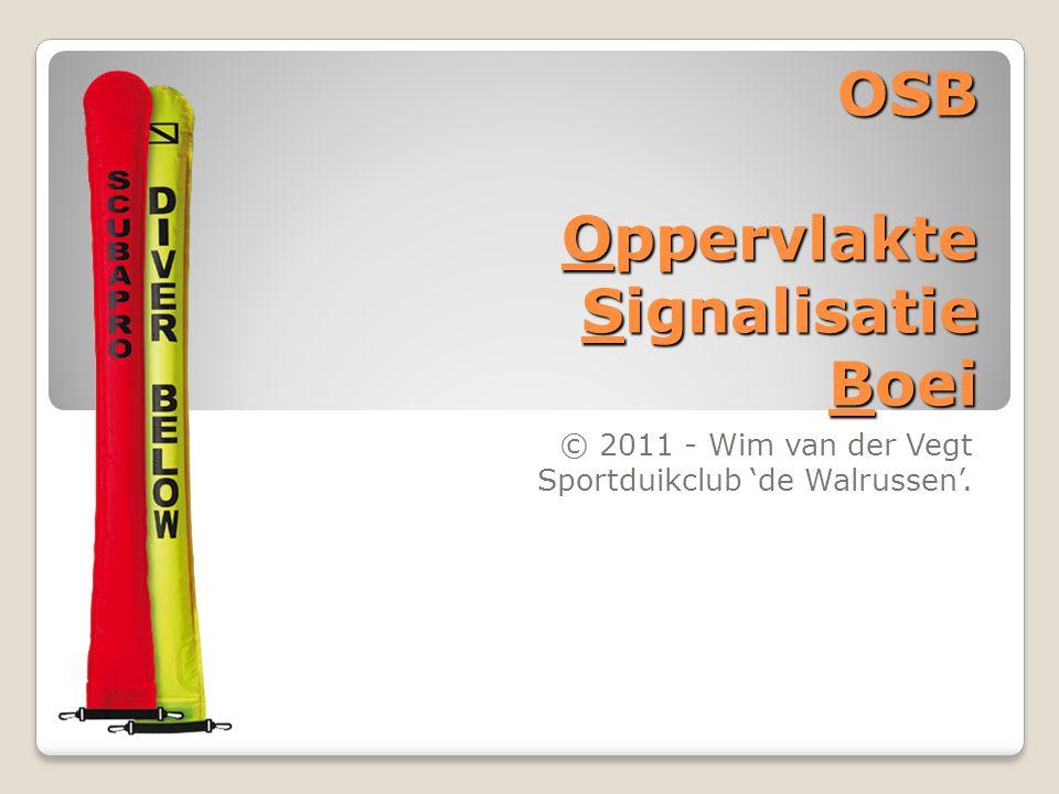 OSB Oppervlakte Signalisatie Boei © 2011 - Wim van der Vegt Sportduikclub 'de Walrussen'.