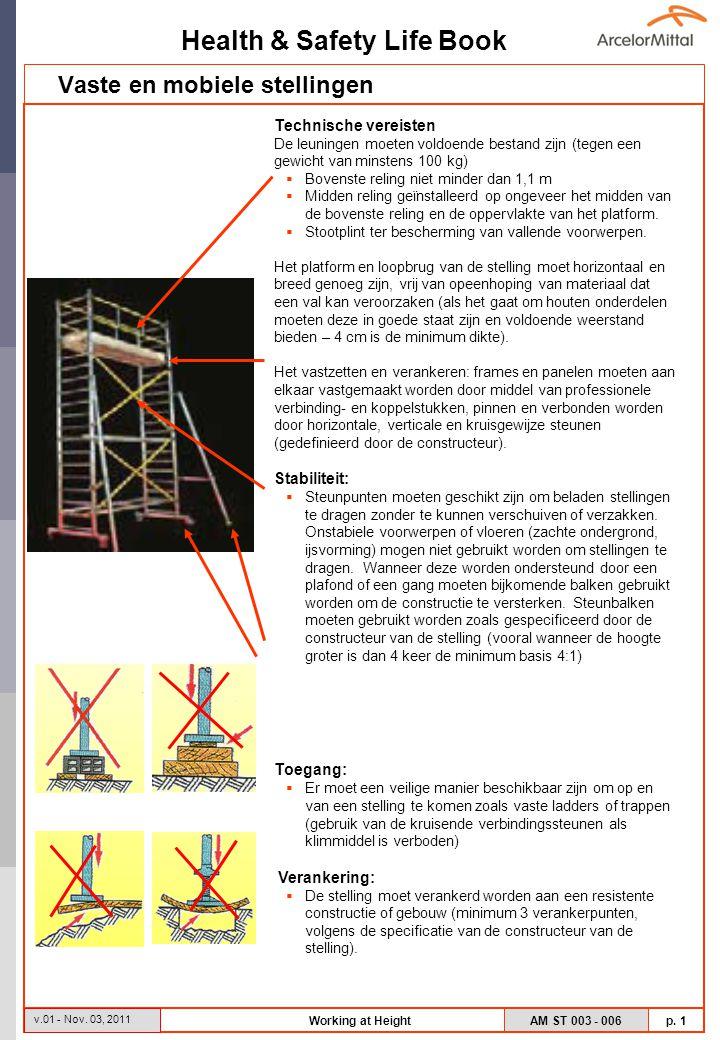 Health & Safety Life Book AM ST 003 - 006 p.2 v.01 - Nov.