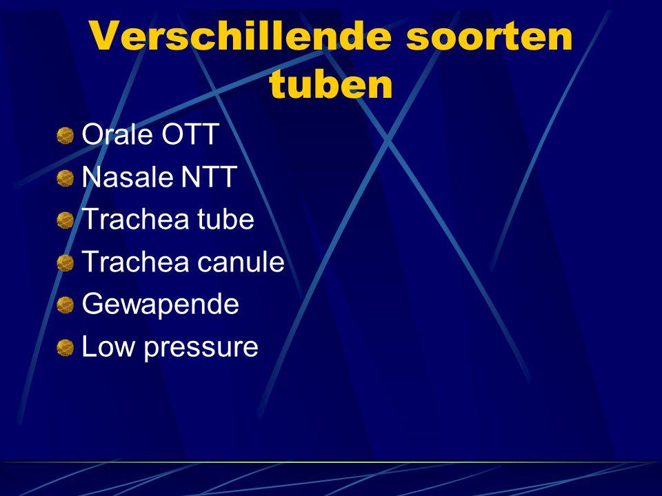 Verschillende soorten tuben Orale OTT Nasale NTT Trachea tube Trachea canule Gewapende Low pressure