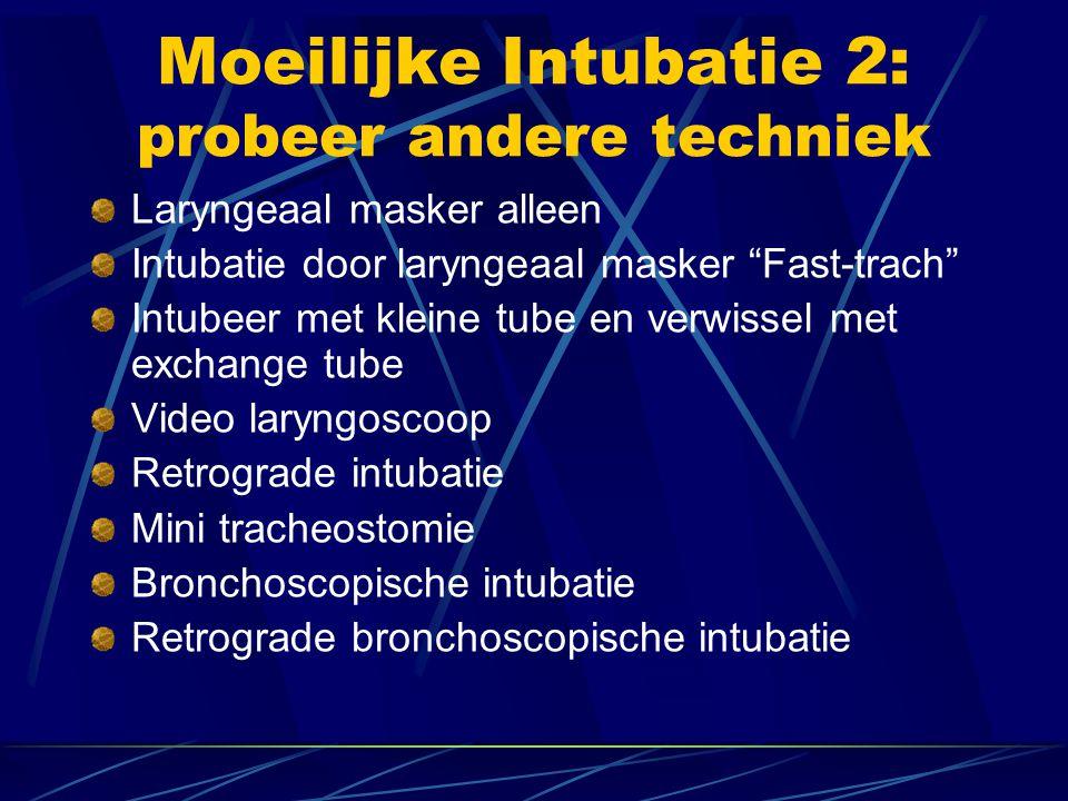 LM masker als alternatief voor intubatie Beademing mogelijk  Altijd nuchter, geen hoge drukken mogelijk  Herbruikbare of éénmalig gebruik