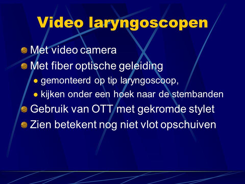 Video laryngoscopen