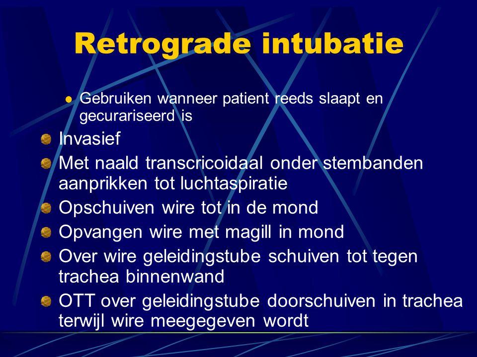Retrograde intubatie