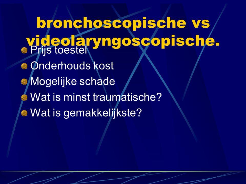 Bronchoscopische Intubatie Alleen bij geplande bronchoscopische intub.