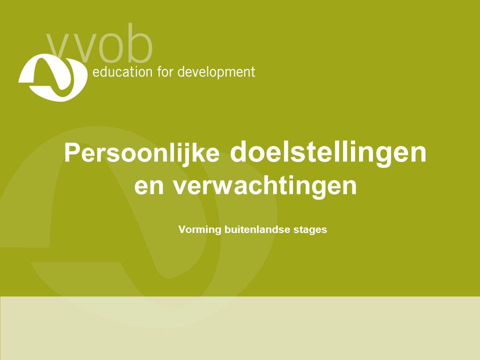 4.Relatie met lokale mensen (werk) •Ga je veel contact hebben met medewerkers van VVOB.