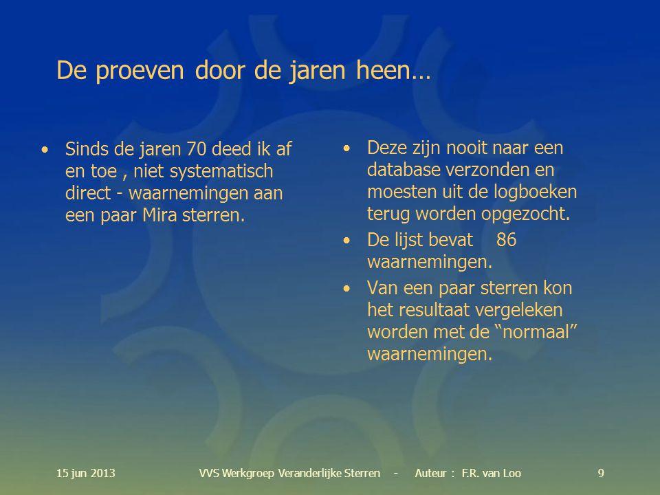 15 jun 201310VVS Werkgroep Veranderlijke Sterren - Auteur : F.R. van Loo [Item 2]