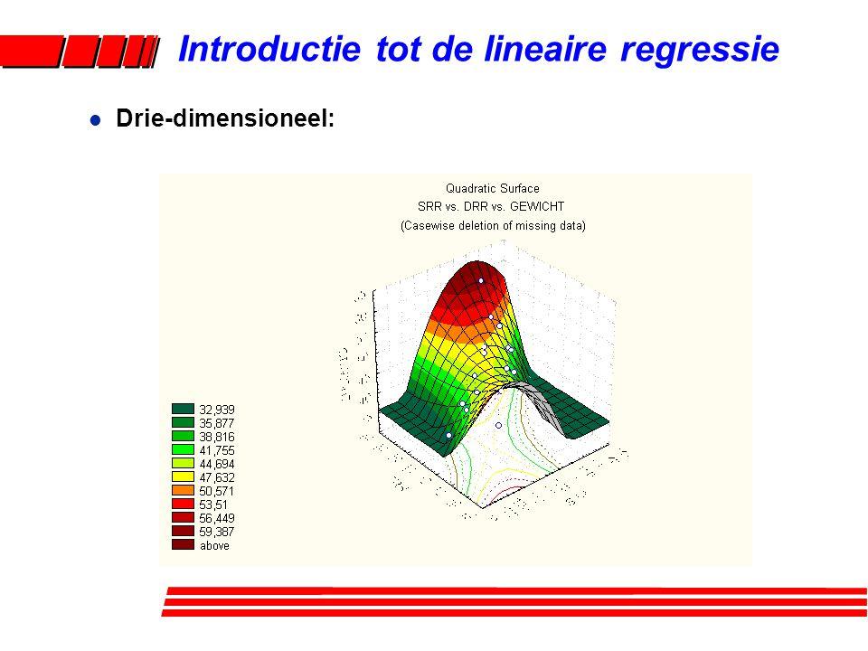 l Drie-dimensioneel: Introductie tot de lineaire regressie