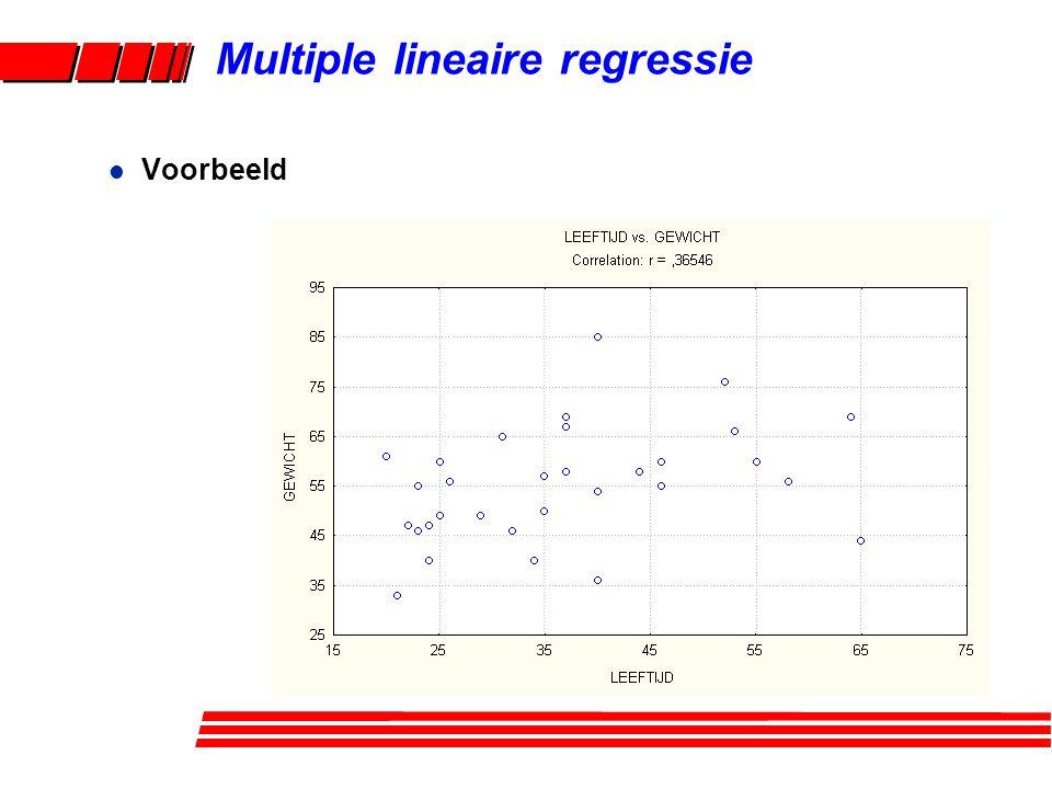 Multiple lineaire regressie l Voorbeeld