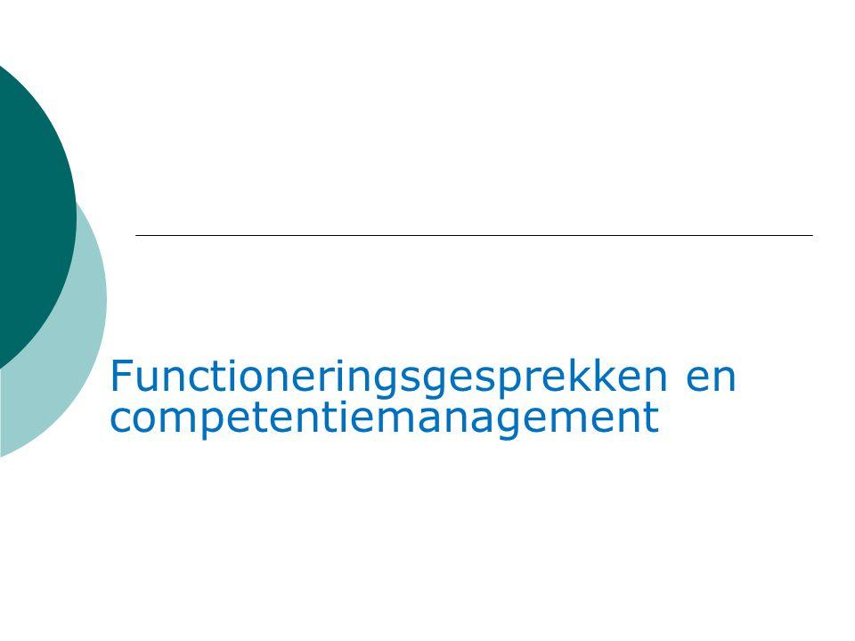 Functioneringsgesprekken en competentiemanagement