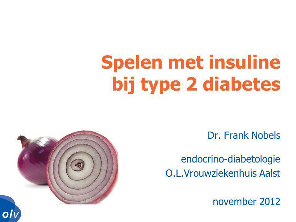 o l vo l vo l vo l v •interpreteer schommelingen (voeding, beweging, stress) •bepaal glycemiestreefdoel •beslis of je hypo's wil tolereren (type 1 DM) •pak eerst hypo's aan, dan pas hoge waarden Insuline aanpassen: vuistregels