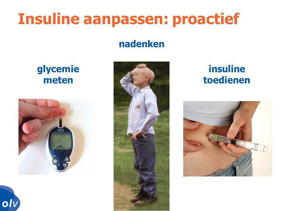 o l vo l vo l vo l v Insuline aanpassen: proactief insuline toedienen nadenken glycemie meten