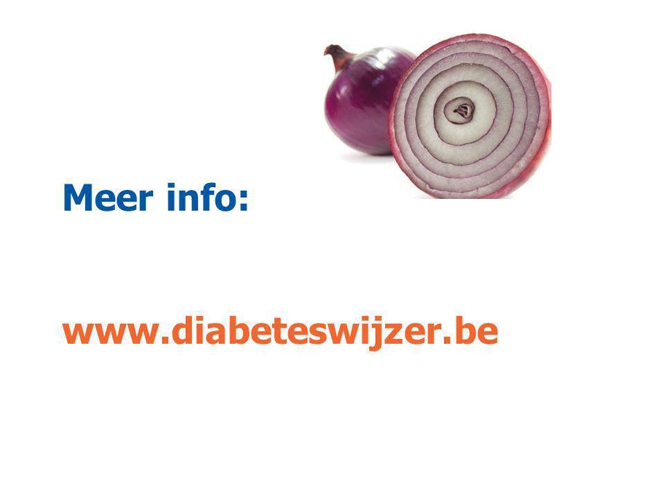 o l vo l v Meer info: www.diabeteswijzer.be