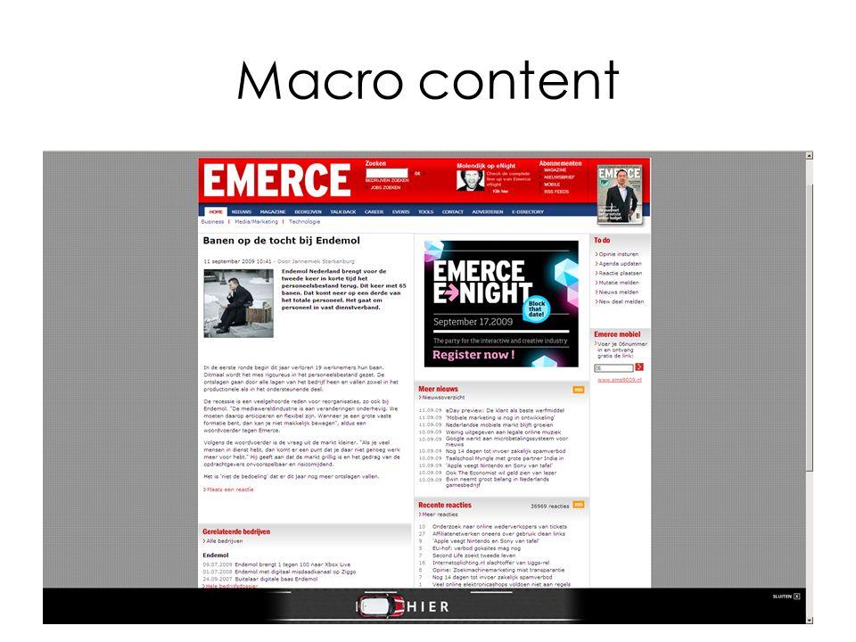 Macro content