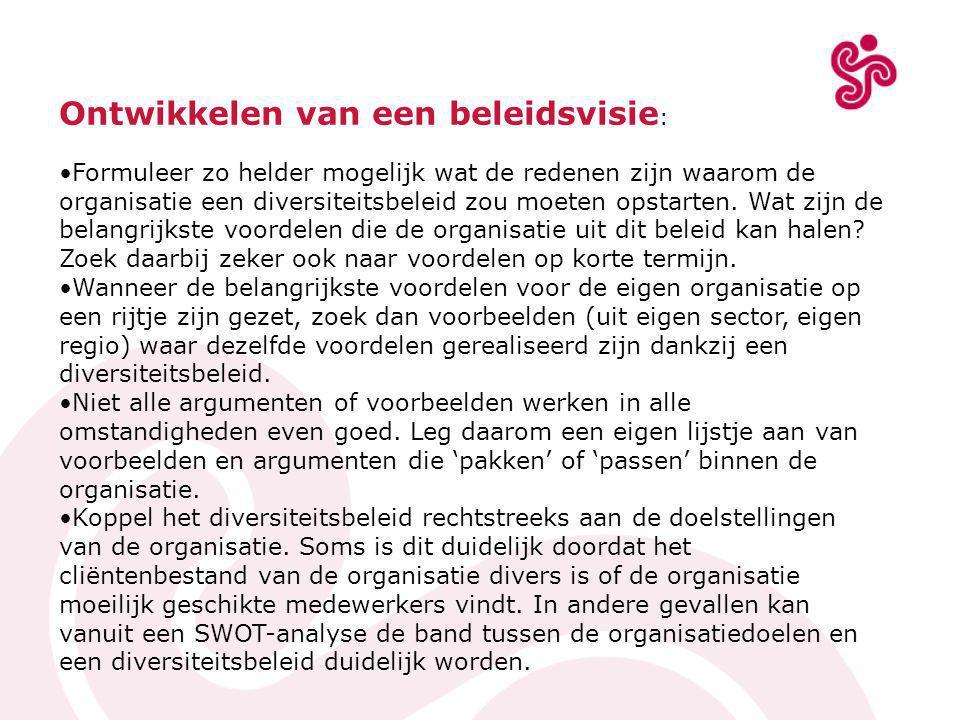 RESOC Kempen Spoorwegstraat 7 2300 Turnhout Tel.: 014/44 51 24 - Fax: 014/44 51 00 Projectontwikkelaars diversiteit: info over de mogelijkheden van een diversiteitplan Linda Cuylaerts - 014/44 51 24 linda.cuylaerts@resockempen.be Tracy Van den Wijngaert - 014/44 52 37 tracy.vandenwijngaert@resockempen.be Veerle Van Leeuw - 014/44 52 49 veerle.vanleeuw@resockempen.be Dominique Van Dijck - 014/44 51 24 dominique.vandijck@resockempen.be
