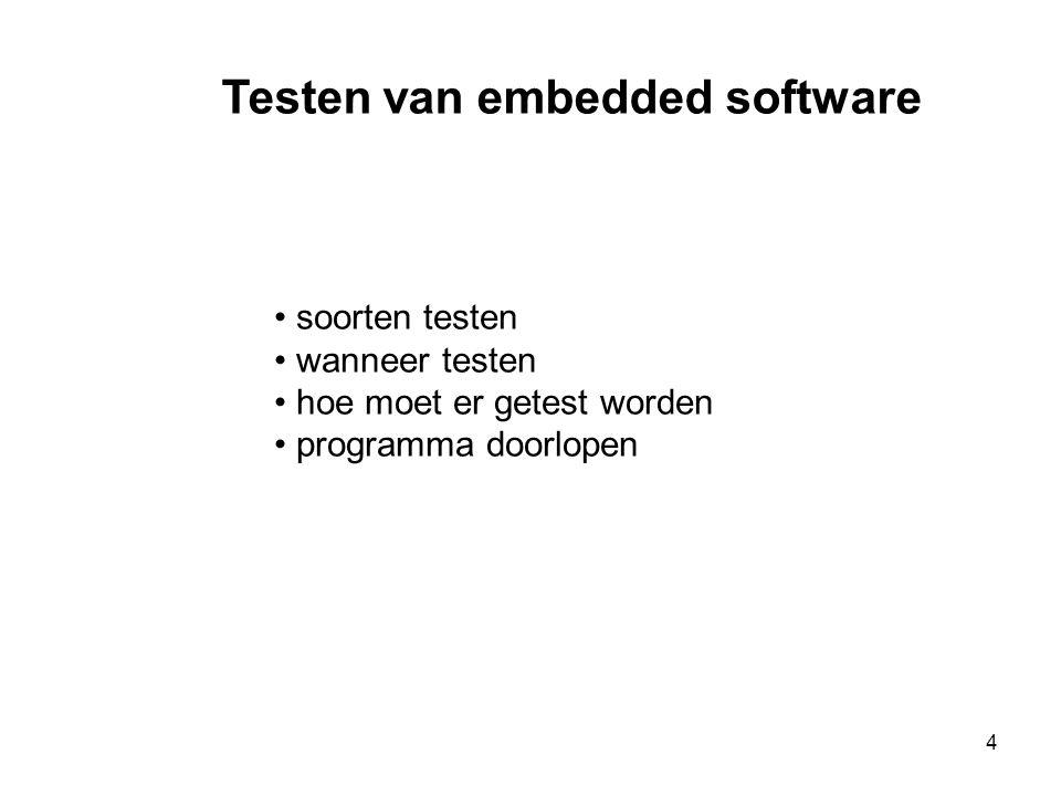 15 Whitebox testen (structueel) • Bekijk hoe de code werkt.