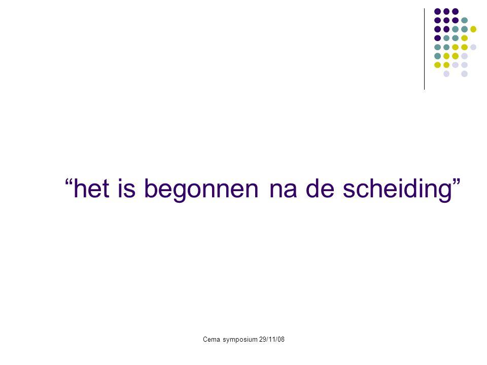 Cema symposium 29/11/08 Zindelijkheid overdag