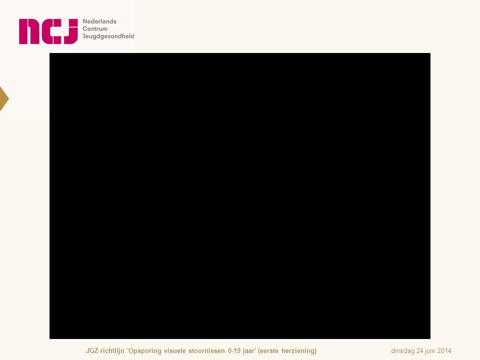 dinsdag 24 juni 2014JGZ-richtlijn 'Opsporing visuele stoornissen 0-19 jaar' (eerste herziening)