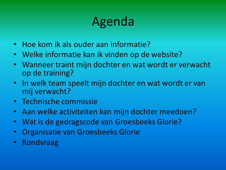 Agenda • Hoe kom ik als ouder aan informatie. • Welke informatie kan ik vinden op de website.
