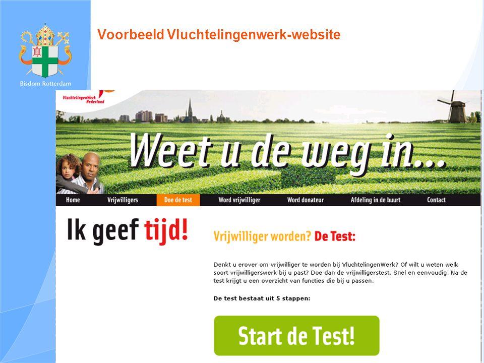 Voorbeeld Vluchtelingenwerk-website
