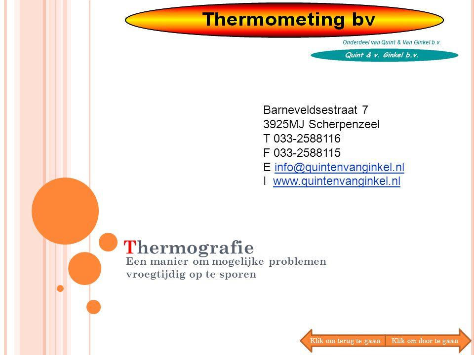 Thermografie Onderdeel van Quint & Van Ginkel b.v.