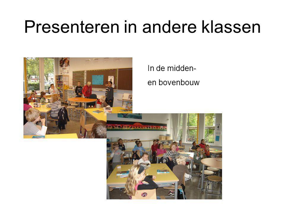 Presenteren in andere klassen In de midden- en bovenbouw