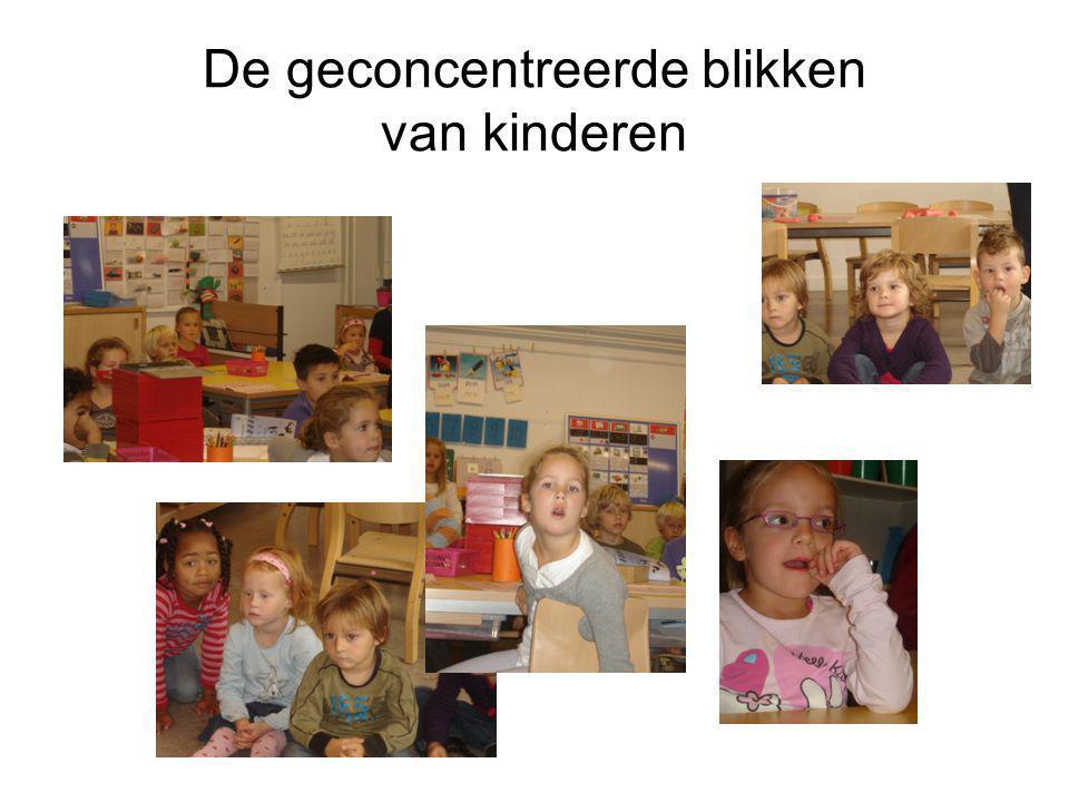 De geconcentreerde blikken van kinderen