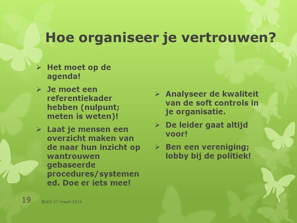 Hoe organiseer je vertrouwen. Het moet op de agenda.