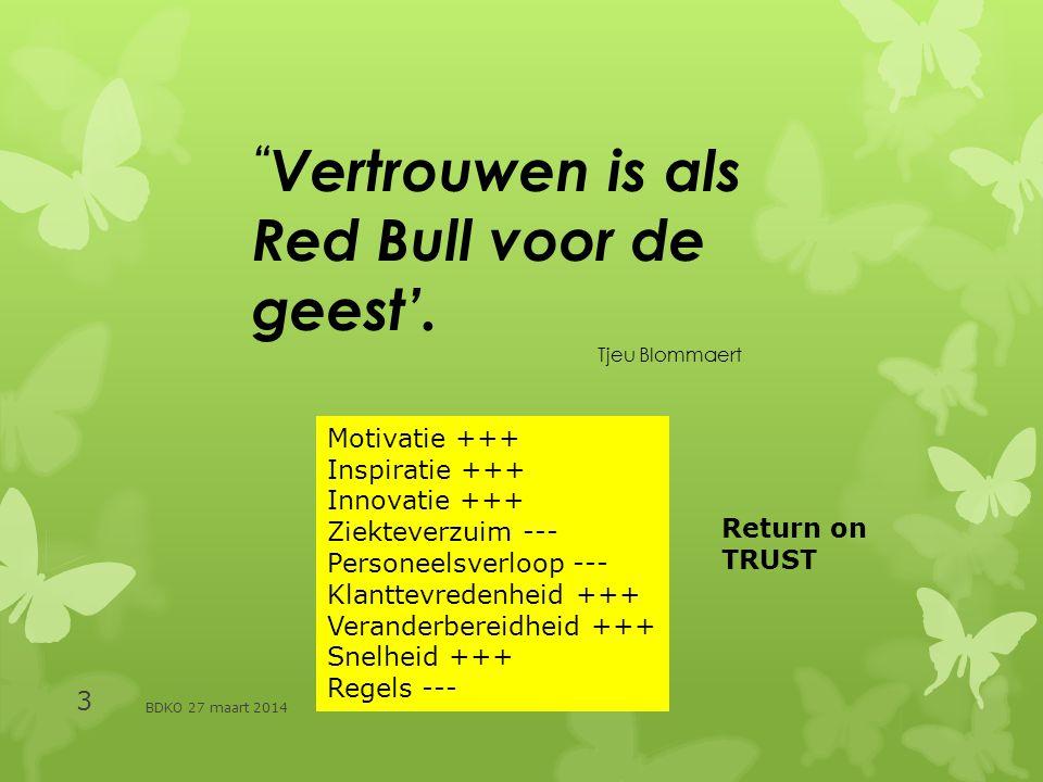 BDKO 27 maart 2014 3 Vertrouwen is als Red Bull voor de geest'.