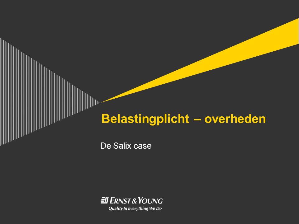 Belastingplicht – overheden De Salix case