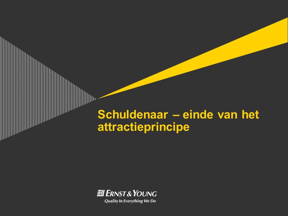 Schuldenaar – einde van het attractieprincipe