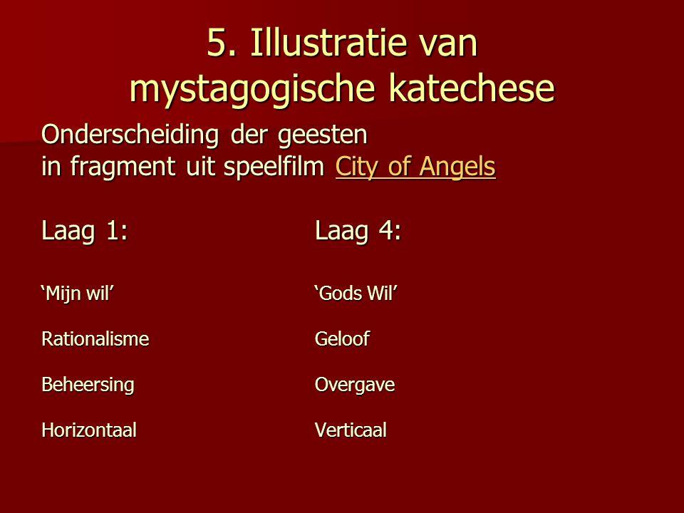 5. Illustratie van mystagogische katechese Onderscheiding der geesten in fragment uit speelfilm City of Angels City of AngelsCity of Angels Laag 1:Laa