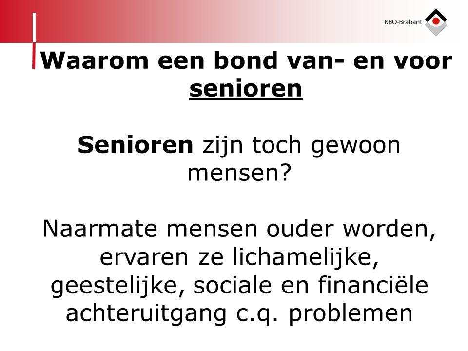 Senioren zijn toch gewoon mensen? Naarmate mensen ouder worden, ervaren ze lichamelijke, geestelijke, sociale en financiële achteruitgang c.q. problem