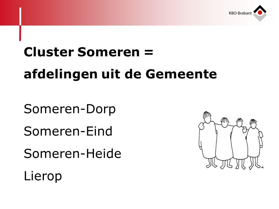 Cluster Someren = afdelingen uit de Gemeente Someren-Dorp Someren-Eind Someren-Heide Lierop