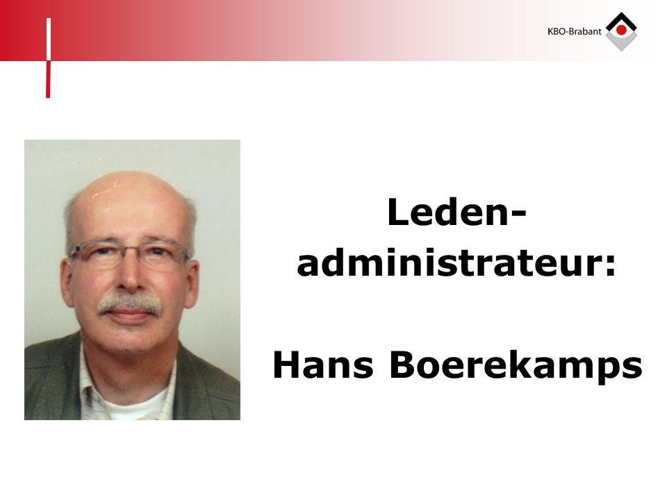 Leden- administrateur: Hans Boerekamps