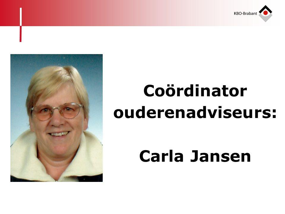 Coördinator ouderenadviseurs: Carla Jansen