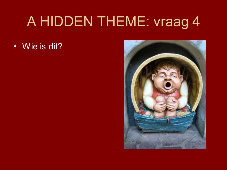 A HIDDEN THEME: vraag 4 •Wie is dit?