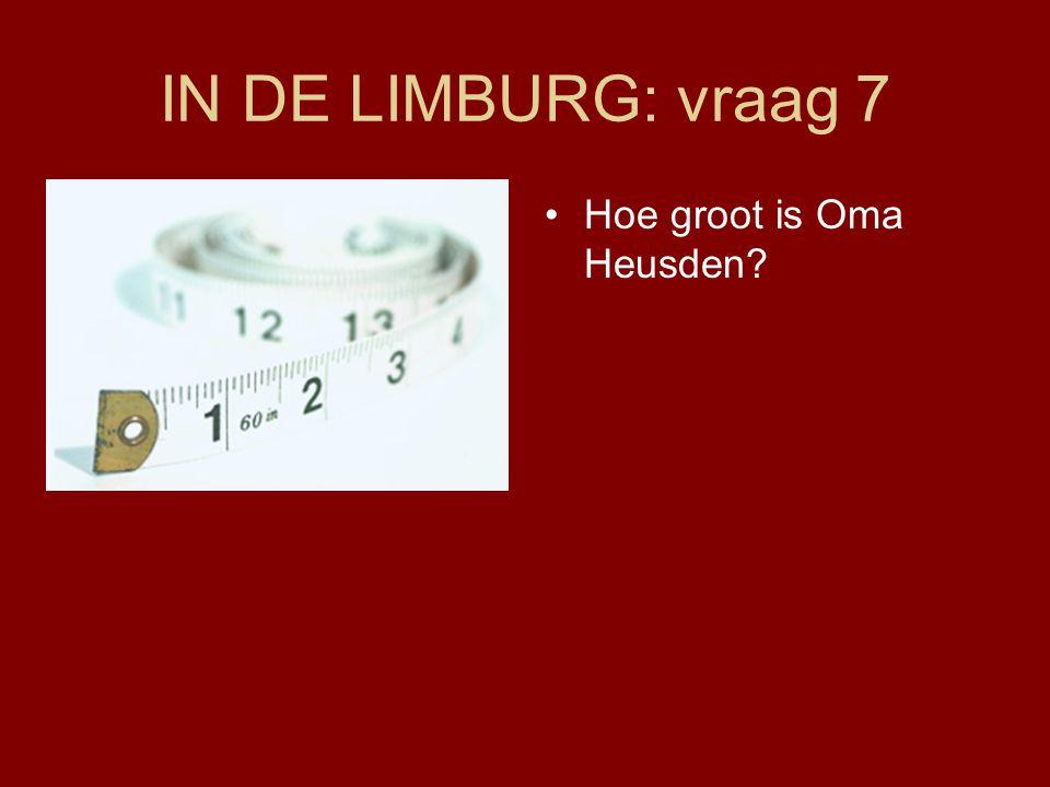 IN DE LIMBURG: vraag 7 •Hoe groot is Oma Heusden?