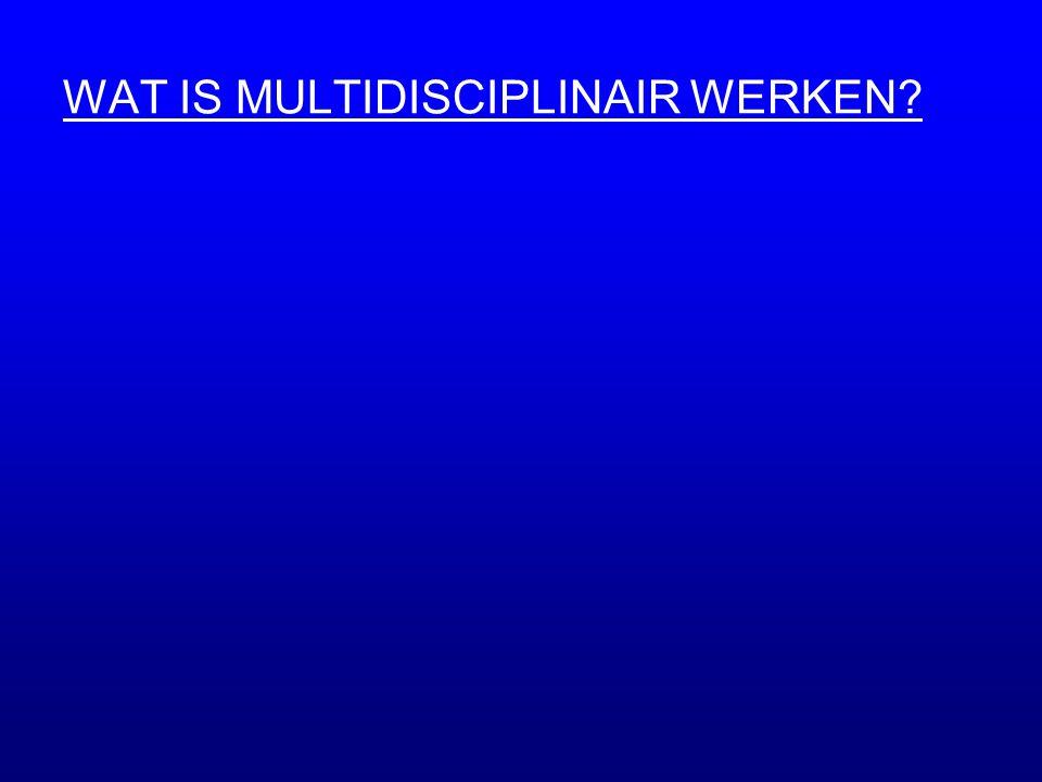 WAT IS MULTIDISCIPLINAIR WERKEN?