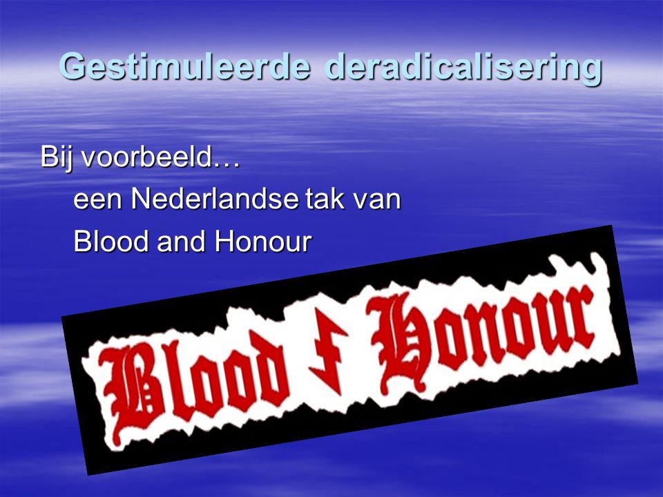 Gestimuleerde deradicalisering Bij voorbeeld… een Nederlandse tak van Blood and Honour