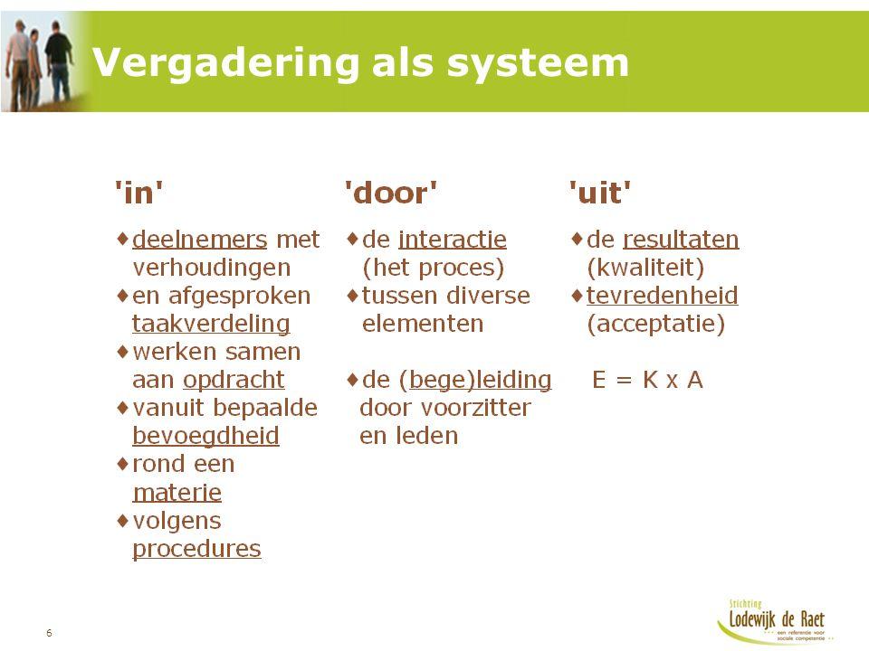 6 Vergadering als systeem