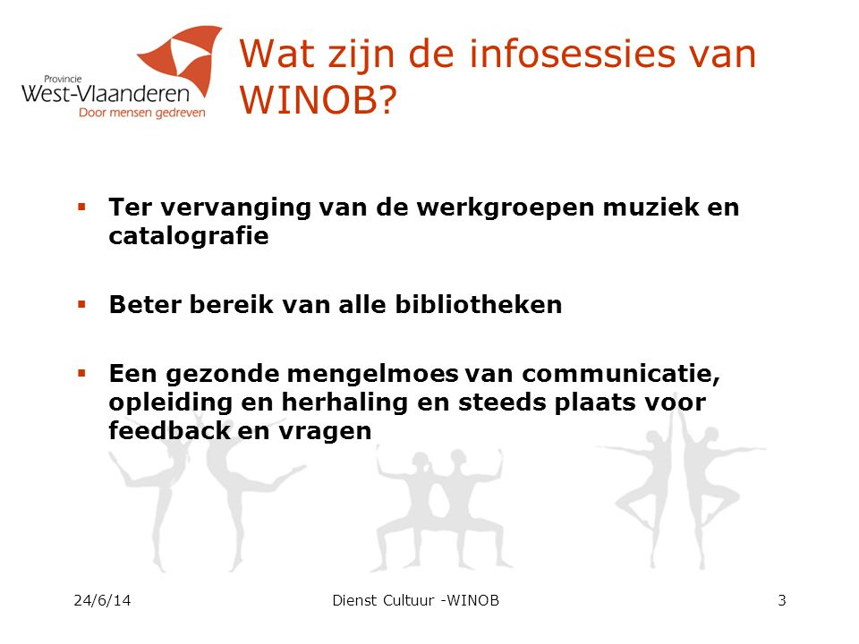 Wat zijn de infosessies van WINOB.