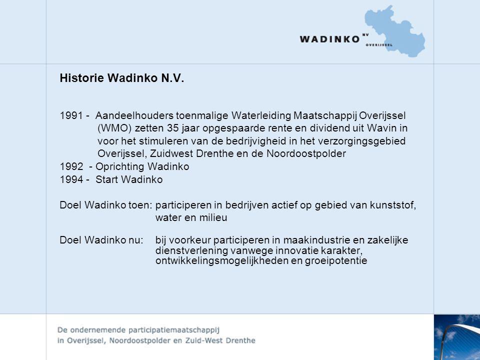 Historie Wadinko N.V.