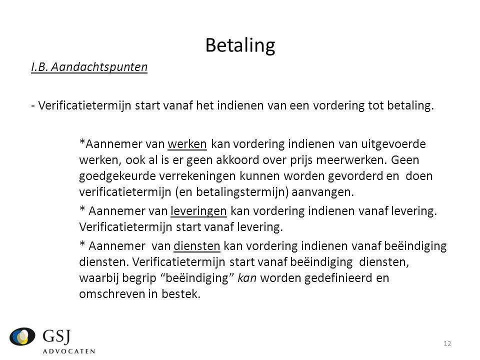 Betaling I.B.