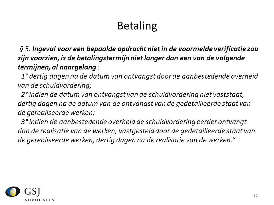 Betaling § 5.