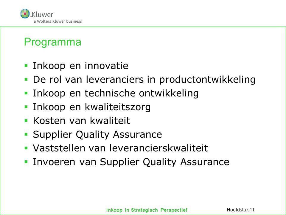Inkoop in Strategisch Perspectief Programma  Inkoop en innovatie  De rol van leveranciers in productontwikkeling  Inkoop en technische ontwikkeling