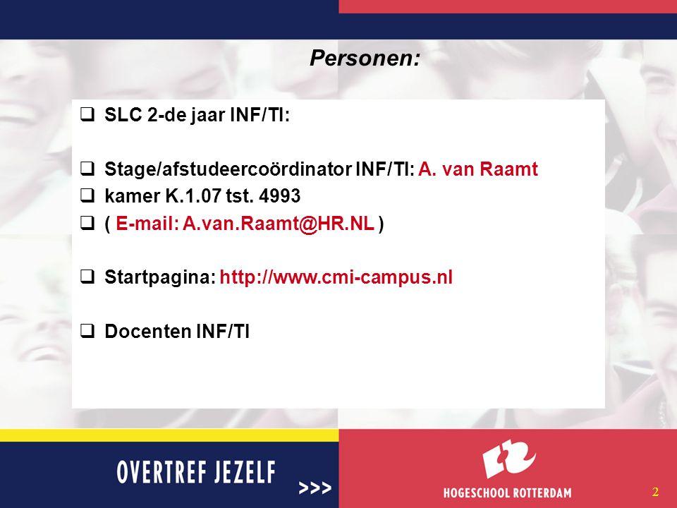 12 Procedure(2/3): 1. Controleer je toestemmingen ( http://www.cmi-campus.nl )