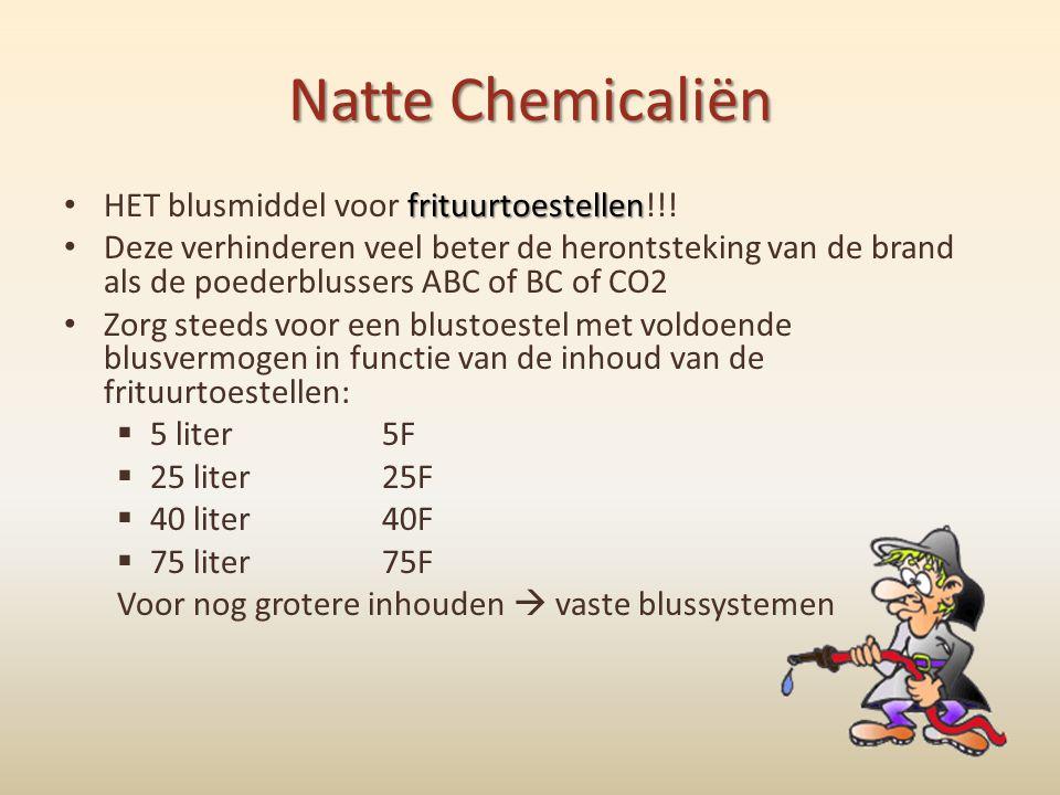 Natte Chemicaliën frituurtoestellen • HET blusmiddel voor frituurtoestellen!!! • Deze verhinderen veel beter de herontsteking van de brand als de poed