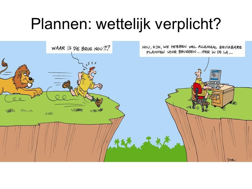 Plannen: wettelijk verplicht?