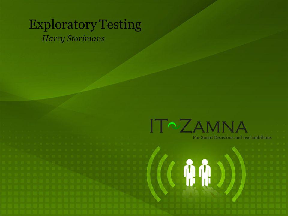 Exploratory Testing Harry Storimans
